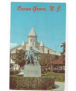 Ocean Grove NJ Auditorium and Stokes Monument Vintage Postcard - $4.84