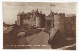 UK Scotland Stirling Castle Portcullis Gate Palace Valentine's Real Photo PC - $6.49