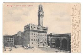 Italy Firenze Piazza della Signoria Florence Vtg Postcard - $5.52