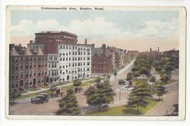 MA Boston Commonwealth Ave Back Bay District Vtg Postcard - $5.52