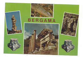 Bergama Turkey Multiview Ruins Antiquities Postcard Continental 4X6 - $5.52