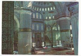 Istanbul Turkey Blue Mosque Interior Saheserleri Postcard 4X6 - $5.52