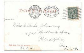 Philadelphia Postmarks 1905 Canadian Stamp Kingsessing Oval Recieved Cancel - $5.52