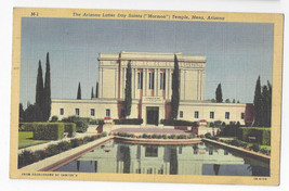 Arizona Latter Day Saints Mormon Temple Mesa Vintage 1948 Linen Postcard - $5.52