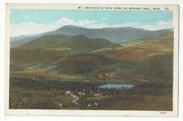 Berkshire MA Mt. Greylock seen from Mohawk Trail Vtg Curteich Postcard - $4.99