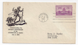 896 Idaho Statehood 2nd day cover Washington DC Thermo Ludwig Cachet Jul... - $4.99