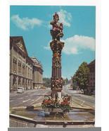 Berne Switzerland Ogre Fountain Kindifresserbrunnen Vintage Postcard 4X6 - $5.52