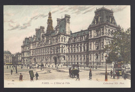 France Paris Hotel de Ville Vtg Neurdein Postcard c 1910 - $5.52