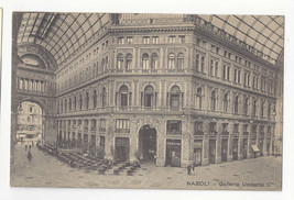 Italy Napoli Naples Galleria Umberto I Vtg Ragozino Postcard c1905 - $5.52