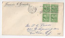 1951 Boston MA Paul Revere Slogan Cancel Francis Crowley Postmaster Signed - $6.49