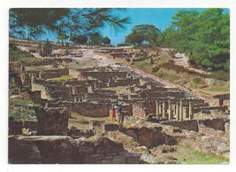 Greece Rhodes Ancient Kamiros Ruins Vtg Postcard 4X6 - $4.84