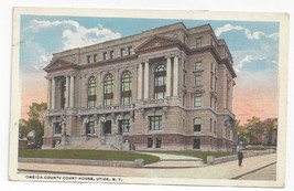 Utica NY Oneida County Court House New York ca 1920 Chas Hughes Postcard - $6.49