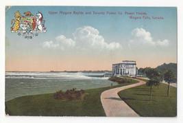Canada Niagara Falls Rapids Toronto Power Plant Vtg FH Leslie Postcard - $6.49