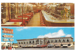 Flemington NJ Circle Diner Split View Vintage Postcard New Jersey Vince ... - $6.49