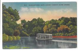 FL Silver Springs Glass Bottom Boat Vtg Linen Postcard 1947 - $6.49