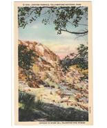 WY Yellowstone National Park Jupiter Terrace Vtg Haynes Linen Postcard W... - $4.84