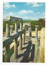 Greece Aegina Temple of Aphea Afaias Ancient Ruins Columns Vtg Postcard 4X6 - $6.49