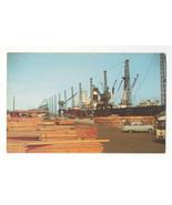 DE Wilmington Marine Terminal Delaware Ship Wharf Lumber Cranes Vtg Post... - $4.99