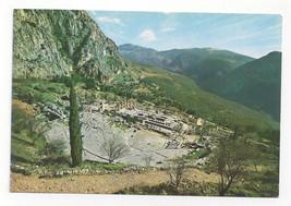 Greece Delphi Theatre Temple of Apollo Ruins Vtg Postcard 4X6 - $6.49