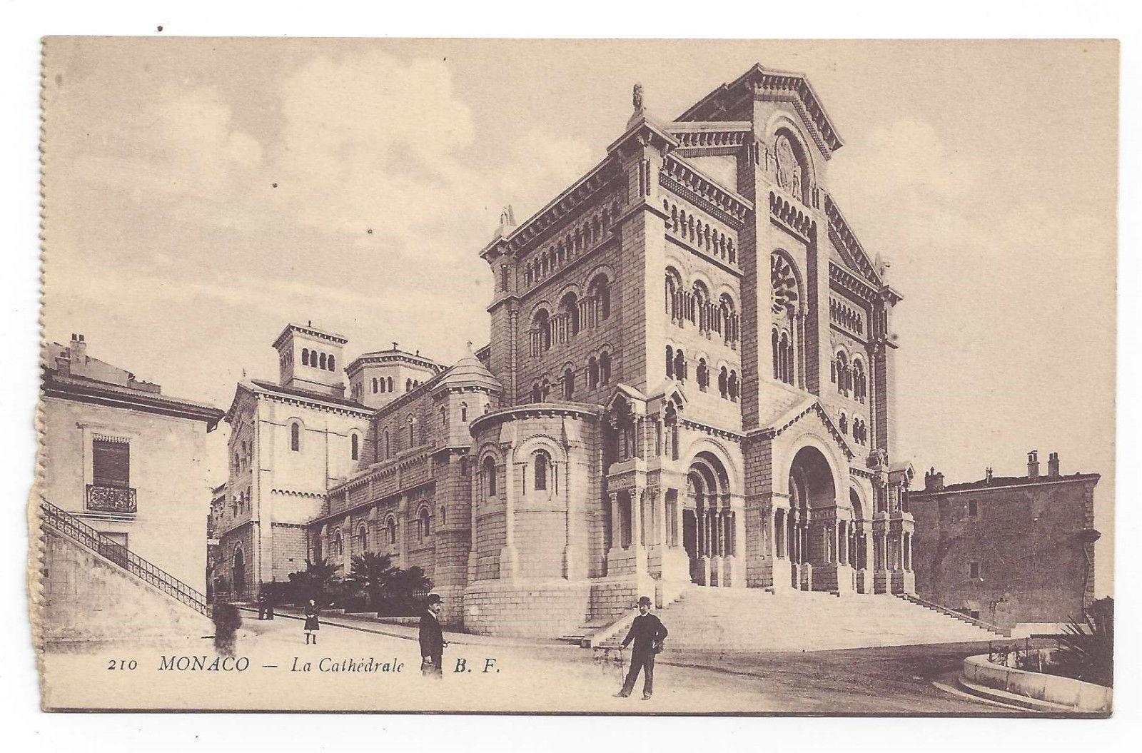 Monaco Cathedral La Cathedrale Vtg Baylone Freres Postcard