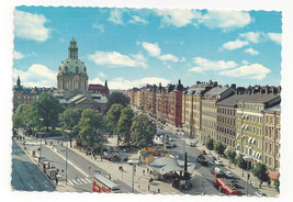 Sweden Stockholm Odenplan Gustav Vasa Church Cathedral 1978 Vtg Postcard... - $6.49