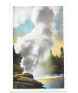 WY Yellowstone Park Riverside Geyser Vtg Haynes Postcard Wyoming - $6.49