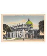 Canada Montreal Roman Catholic Church Cathedral Vtg Metrocraft Linen Pos... - $4.84