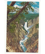 WY Yellowstone Park Lower Falls Grand Canyon Vtg H S Crocker Postcard Wy... - $4.84