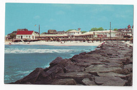 Cape May NJ Stone Jetty Beach Patrol Station Vintage 1963 Postcard - $6.49