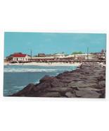 Cape May NJ Stone Jetty Beach Patrol Station Vintage 1963 Postcard - $6.49