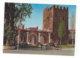 Turkey Antalya Hadrians Gate Portal Horse Carriage Vtg Postcard 4X6 - $4.84
