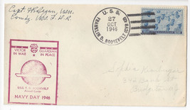 USS Franklin D. Roosevelt  CVB-42 Aircraft Carrier Navy Day 1946 Cachet Cover - $4.84