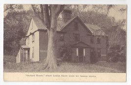 MA Concord Orchard House Residence of Louisa May Alcott Vintage Postcard - $6.49