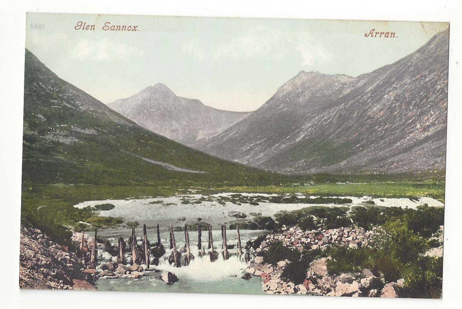 Scotland Glen Sannox Vtg Isle of Arran Postcard c1910