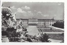 Austria Vienna Schonbrunn Palace Neptune Fountain Vtg Real Photo Postcard - $6.49