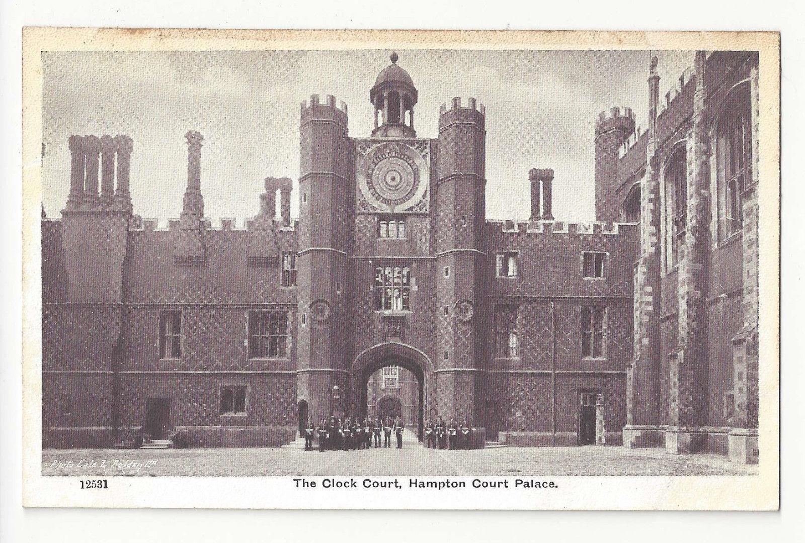 UK London Hampton Court Palace Clock Tower Vtg G&P Postcard c1910