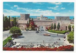 Greece Rhodes Liberty Gate Fortress Walls Rhodos Rodi Vtg Postcard 4X6 - $4.84