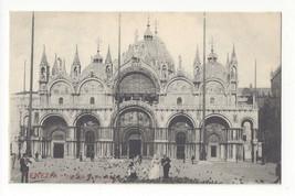 Italy Venezia Venice Chiesa di S Marco Cathedral St Marks Vtg Postcard c... - $4.99