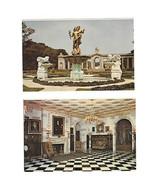 DE Nemours Reception Hall & Garden Alfred I Du Pont Estate 2 Vtg Postcards - $5.81