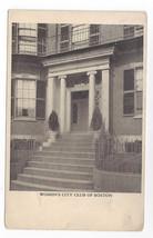 Boston MA Womens City Club Vintage UND Postcard - $5.62