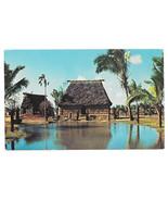 Hawaii Oahu Fijian Chief's House Polynesian Cultural Center Vtg Postcard - $5.81