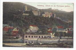 Germany Heidelberg Schloss von der Hirschgasse gesehen Vtg Postcard c 1910 - $4.99