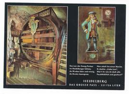 Germany Heidelberg Tun Grosse Fass Castle Wine Vat Vintage Postcard 4X6 - $4.84