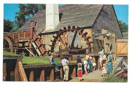 MA Saugus Ironworks Restoration Forge Paddle Water Wheel Vtg Postcard - $5.62