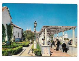 Portugal Lisbon Miradouro de Santa Luzia 1976 Vtg Postcard 4X6 Stamps - $4.84