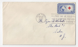 FDC Sc 1016 Red Cross Issue 1952 ASDA National Stamp Show Station - $4.84