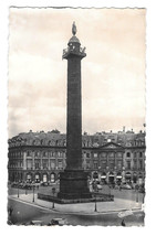 France Paris Colonne Vendome Vtg Chantal Real Photo Postcard RPPC 1955 - $4.84