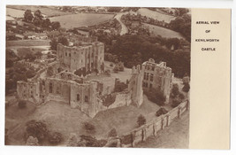 UK England Kenilworth Castle Aerial View Aerophoto Vtg Postcard - $6.49