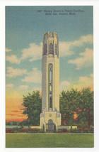 MI Detroit Belle Isle Nancy Browns Peace Carillon Vtg 1943 Linen Postcard - $4.84