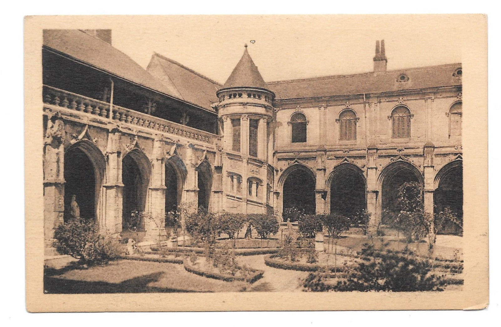 France Tours Psalette Cloister Galerie and Staircase Vtg A. Bruel Postcard